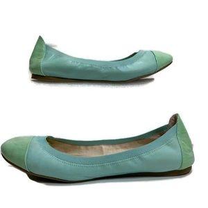 Vince Camuto Elise Ballerina Flat Mint Blue Sz 7.5